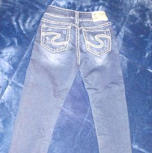Silver Jeans, Suki Joga capri jeans, Size 25